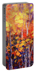 Portable Battery Charger featuring the painting Warm Expressions by Tatiana Iliina