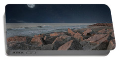 Warm Moonrise At For Fisher Portable Battery Charger