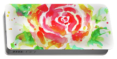 Warm Red Rose  Portable Battery Charger