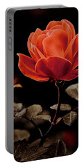 Warm Sepia Rose Portable Battery Charger