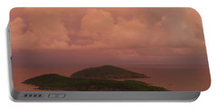 Warm Sunset Palette Of Inner And Outer Brass Islands From St. Thomas Portable Battery Charger