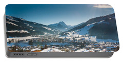 Warm Winter Day In Kirchberg Town Of Austria Portable Battery Charger