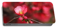 Warmth Of Flowering Quince Portable Battery Charger