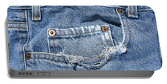 Worn Jeans Portable Battery Charger