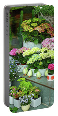 Warnemunde Flower Shop Portable Battery Charger by Eva Kaufman