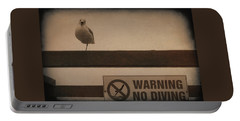 Warning No Diving 2 Portable Battery Charger by Ernie Echols