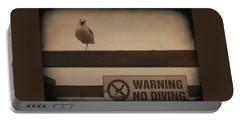 Warning No Diving 2 Portable Battery Charger
