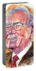 Warren Buffett Painting Portable Battery Charger