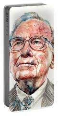 Warren Buffett Portrait Portable Battery Charger
