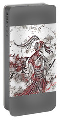 Warrior Moon Anime Portable Battery Charger by Vennie Kocsis