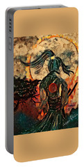 Warrior Moon Portable Battery Charger by Vennie Kocsis