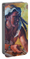 Warrior Of The Gate Portable Battery Charger by Karen Kennedy Chatham