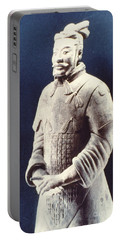 Portable Battery Charger featuring the photograph Warrior Of The Terracotta Army by Heiko Koehrer-Wagner