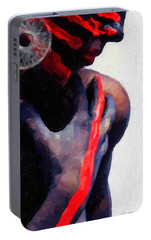 Portable Battery Charger featuring the digital art Warrior Princess by Serge Averbukh