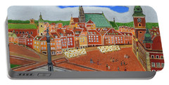 Warsaw- Old Town Portable Battery Charger by Magdalena Frohnsdorff