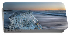 Washed Up Ice At Dawn Portable Battery Charger