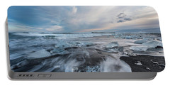 Washed Up Ice Sunset Portable Battery Charger