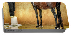 Washing A Horse Portable Battery Charger by Robert FERD Frank