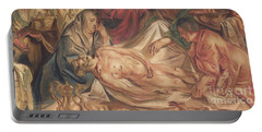 Detail From Washing And Anointing Of The Body Of Christ Portable Battery Charger