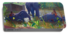 Mud Bath Paintings Portable Battery Chargers
