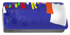 Portable Battery Charger featuring the digital art Washing Line by Barbara Moignard