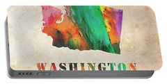 Washington Colorful Watercolor Map Portable Battery Charger