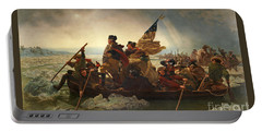 Portable Battery Charger featuring the photograph Washington Crossing The Delaware by John Stephens