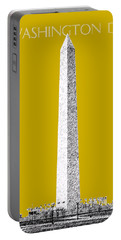 Washington Dc Skyline Washington Monument - Gold Portable Battery Charger