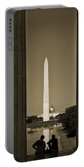 Washington Monument And Capitol #4 Portable Battery Charger