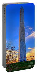 Washington Monument And Cherry Tree  Portable Battery Charger