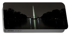 Portable Battery Charger featuring the photograph Washington Monument At Night by Ed Clark