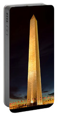 Washington Monument At Night  Portable Battery Charger