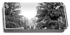 Washington Monument Grounds Baltimore 1900 Vintage Photograph Portable Battery Charger
