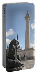 Washington Monument In Baltimore Portable Battery Charger