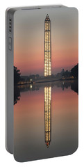 Washington Monument At Dawn Portable Battery Charger