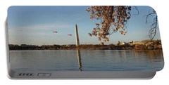 Washington Monument Portable Battery Charger by Megan Cohen