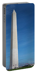 Portable Battery Charger featuring the photograph Washington Monument by Steven Frame