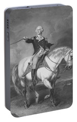 Washington Receiving A Salute At Trenton Portable Battery Charger by War Is Hell Store