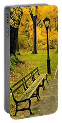 Washington Square Bench Portable Battery Charger