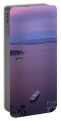 Washington State Ferry Sunrise Light Portable Battery Charger by Mike Reid