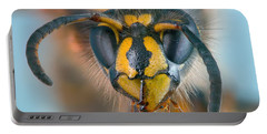 Wasp Portrait Portable Battery Charger by Alexey Kljatov