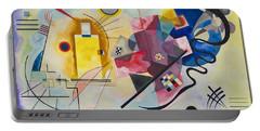 Wassily Kandinsky,jaune Rouge Bleu Portable Battery Charger