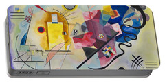 Portable Battery Charger featuring the painting Wassily Kandinsky,jaune Rouge Bleu by Celestial Images