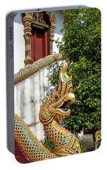 Portable Battery Charger featuring the photograph Wat Chiang Chom Phra Wihan Naga Dthcm0892 by Gerry Gantt