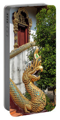 Wat Chiang Chom Phra Wihan Naga Dthcm0892 Portable Battery Charger by Gerry Gantt