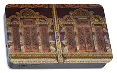 Portable Battery Charger featuring the photograph Wat Chiang Chom Phra Wihan Windows Dthcm0890 by Gerry Gantt