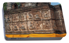Portable Battery Charger featuring the photograph Wat Jed Yod Frieze Of Angels Or Deities On Maha Vihara Jedyod Dthcm0903 by Gerry Gantt