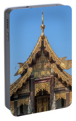 Portable Battery Charger featuring the photograph Wat Jed Yod Gable Of The Vihara Of The 700 Years Image Dthcm0963 by Gerry Gantt
