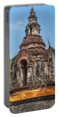 Wat Jed Yod Phra Chedi Containing Image Of Buddha Dthcm0911 Portable Battery Charger