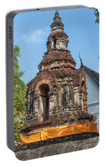 Portable Battery Charger featuring the photograph Wat Jed Yod Phra Chedi Containing Image Of Buddha Dthcm0911 by Gerry Gantt